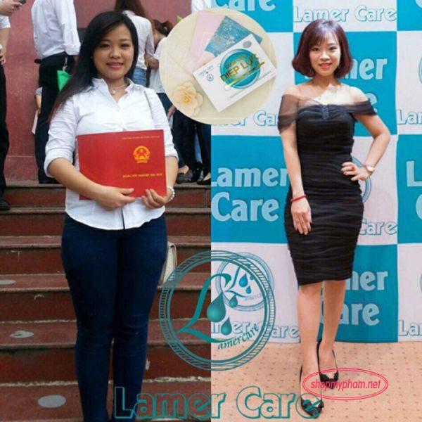 Khách hàng sử dụng giảm cân diệp lục Lamer Care