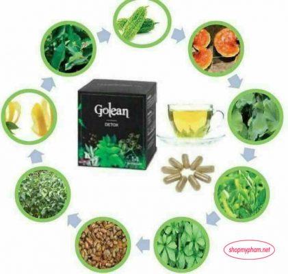 Thành phần tạo nên trà giảm cân Golean
