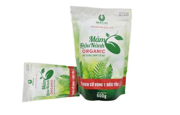 Mầm đậu nành Organic hỗ trợ tăng vòng 1 tự nhiên