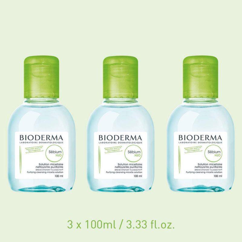 Nước tẩy trang Bioderma xanh